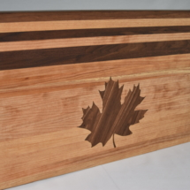 Custom Cutting Board Maple Leaf Inlay View 1