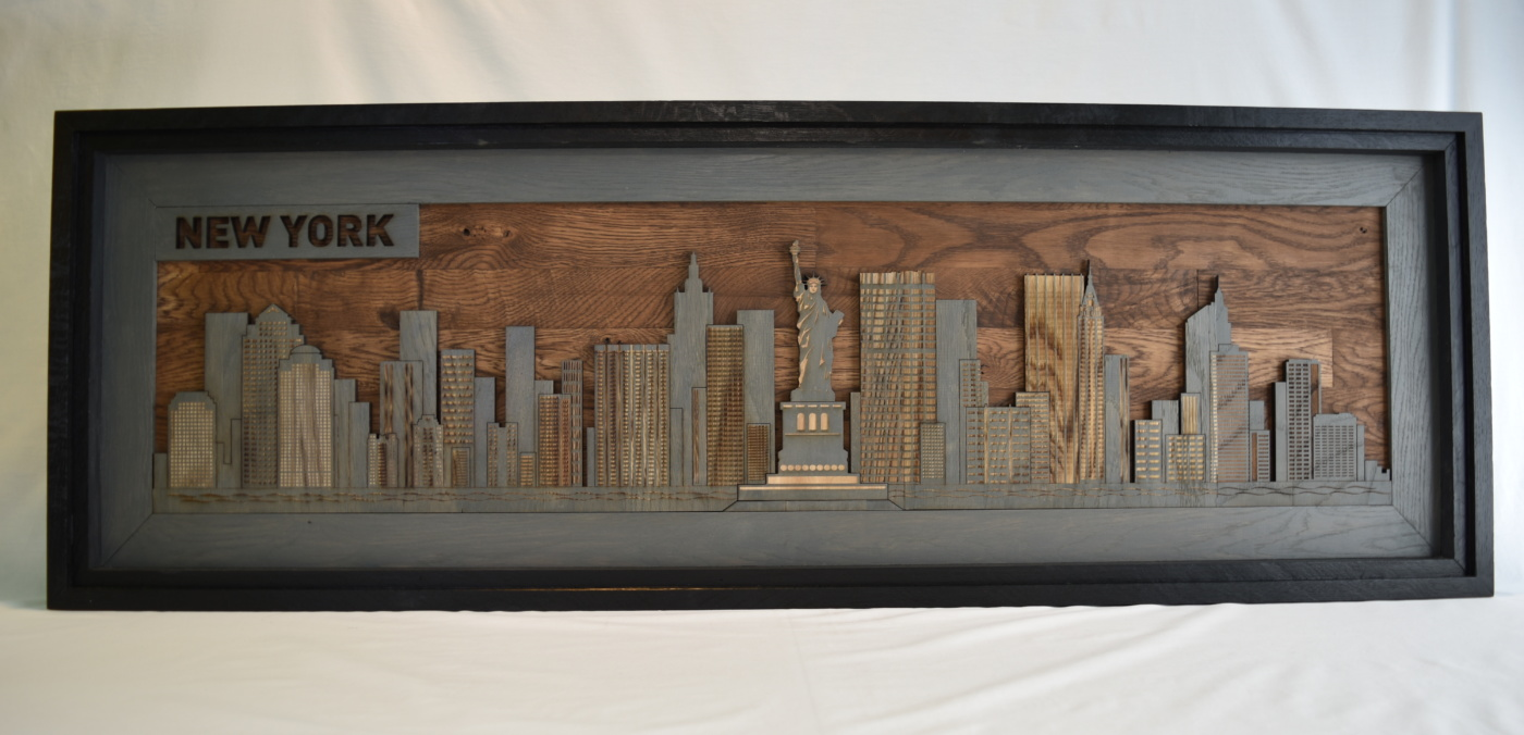 Laser Engraved And Laser Cut Wood Wall Art
